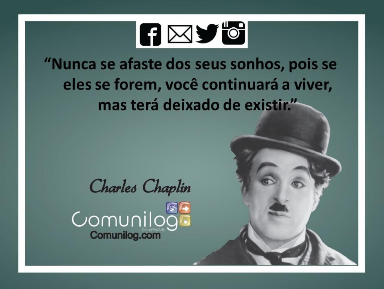 Frase de Boa Semana de trabalho - Charlie Chaplin   Comunilog Consulting